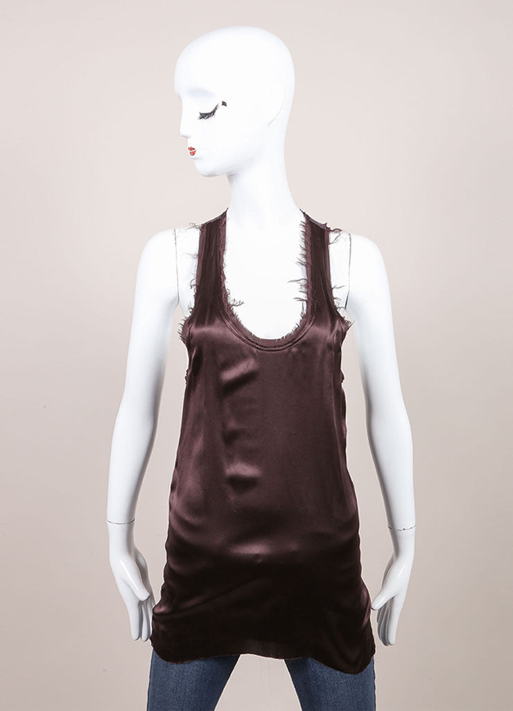 "Haider Ackermann New With Tags Purple Silk Knit ""Nemesis"" Tank Top Frontview"