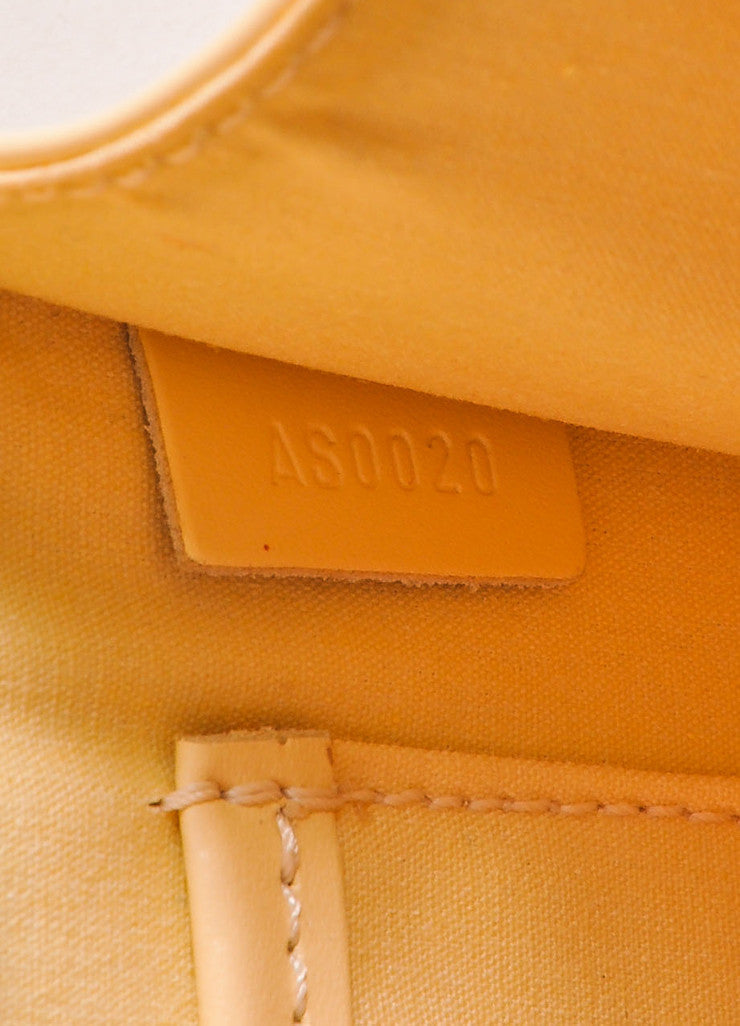 "Louis Vuitton Pale Yellow Epi Leather Textured Flap ""Biarritz"" Shoulder Bag Date Code"