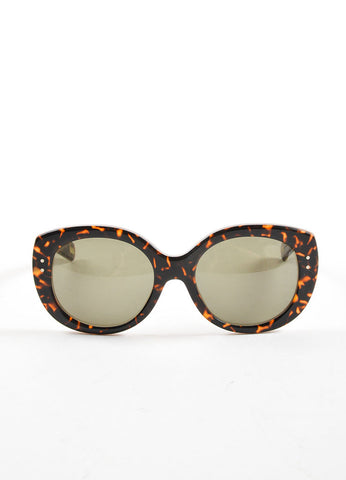 "Marc Jacobs Tortoise Vintage Inspired Round Frame ""MJ 367/S"" Sunglasses Frontview"