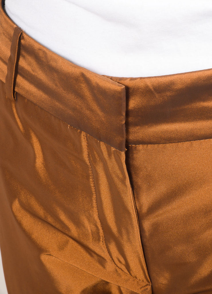 Elizabeth and James New With Tags Copper Tapered Trousers Detail