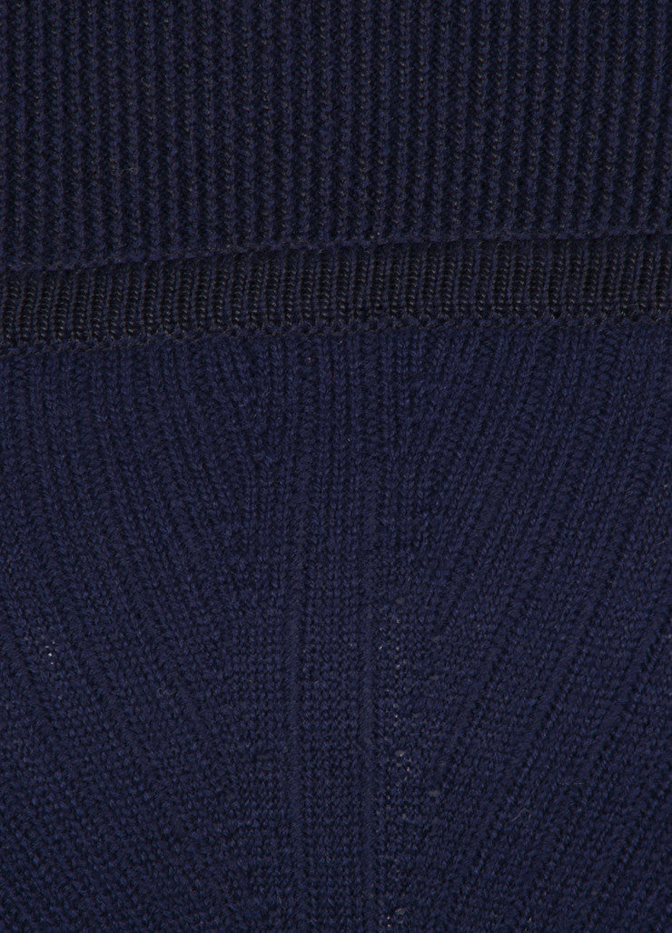 "Isabel Marant New With Tags Navy and Black Wool Knit ""Bingham"" Dress Detail"