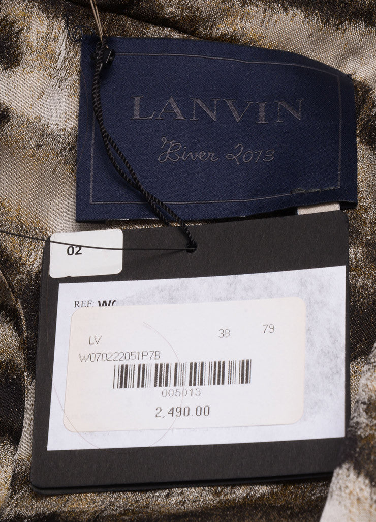 Lanvin New With Tags Black and Grey Silk Blend Zebra Printed Blazer Brand