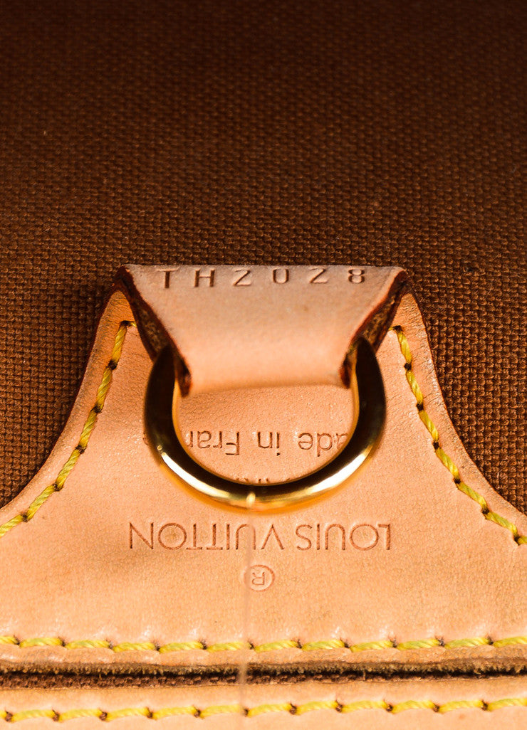 "Louis Vuitton Brown and Tan Coated Canvas and Leather Monogram ""Ellipse MM"" Bowler Bag Date Code"