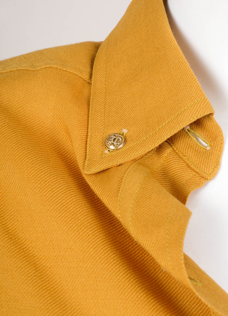 Gold Button Down Blouse
