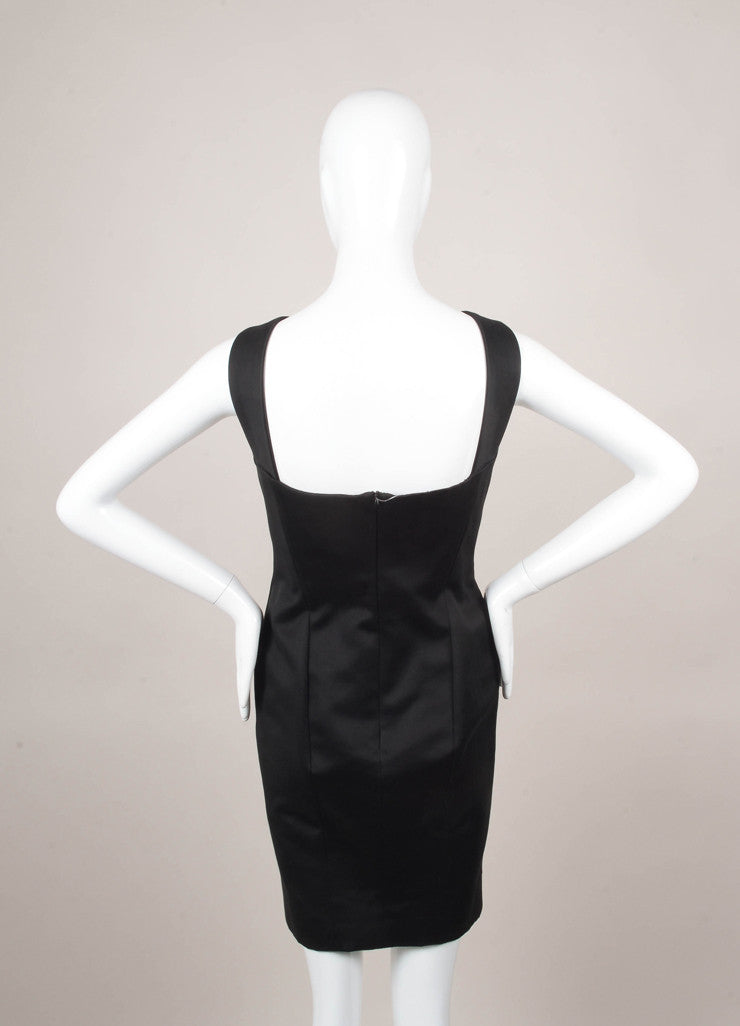 Black Sleeveless Cotton Dress