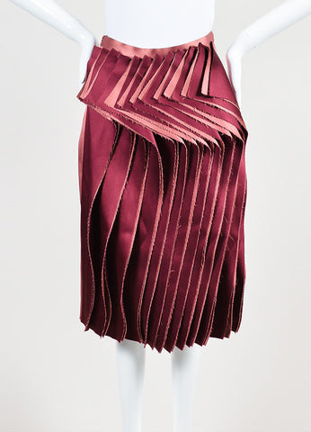 Audra Rose and Maroon Two Tone Ruffle Front Skirt Frontview