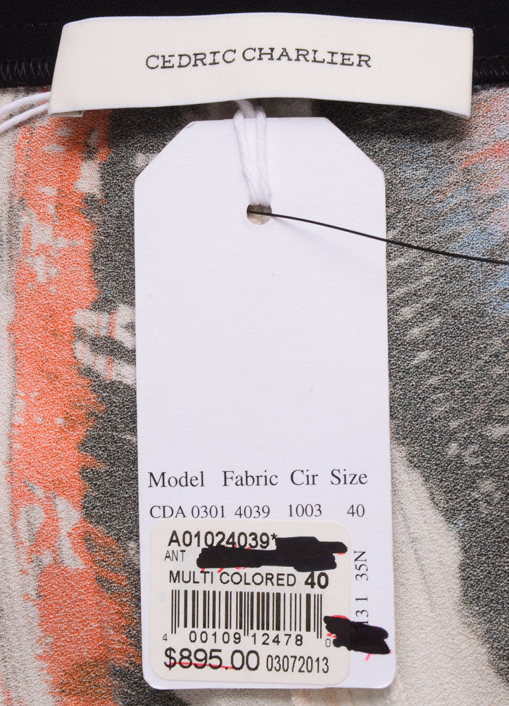 Cedric Charlier New With Tags Orange, Blue, and White Stripe Print Skinny Pants Brand