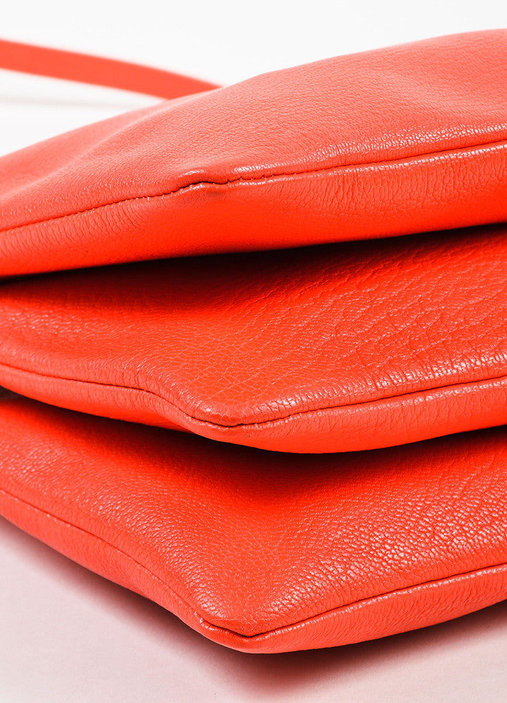 "Celine ""Alizarine"" Red Leather ""Large Trio"" Crossbody Bag Detail"
