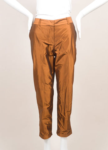 Elizabeth and James New With Tags Copper Tapered Trousers Frontview