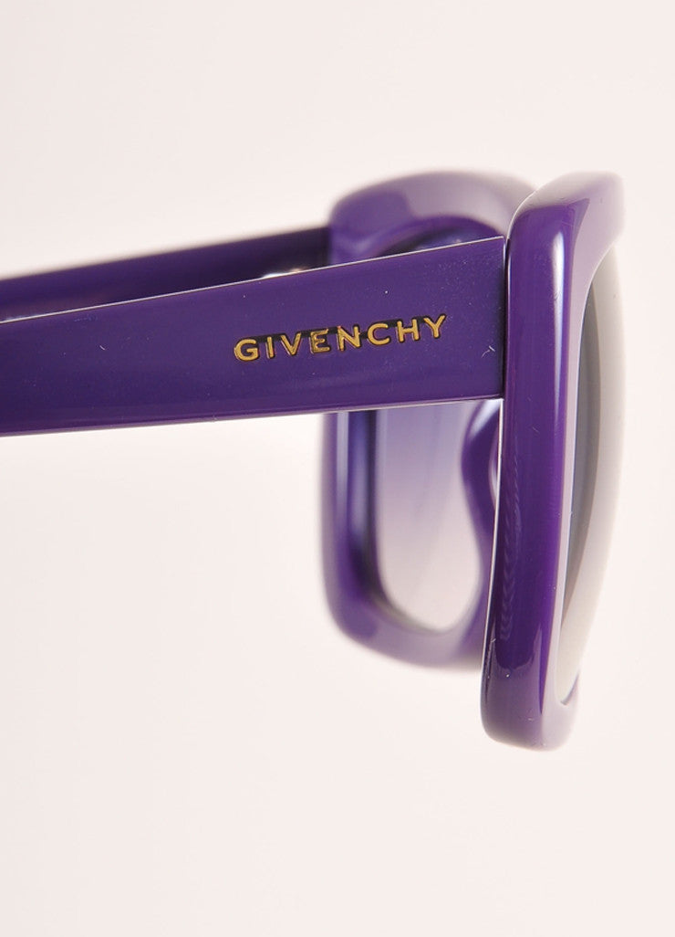 "Givenchy New With Tags Purple Plastic ""SGV 755"" Square Sunglasses Brand"