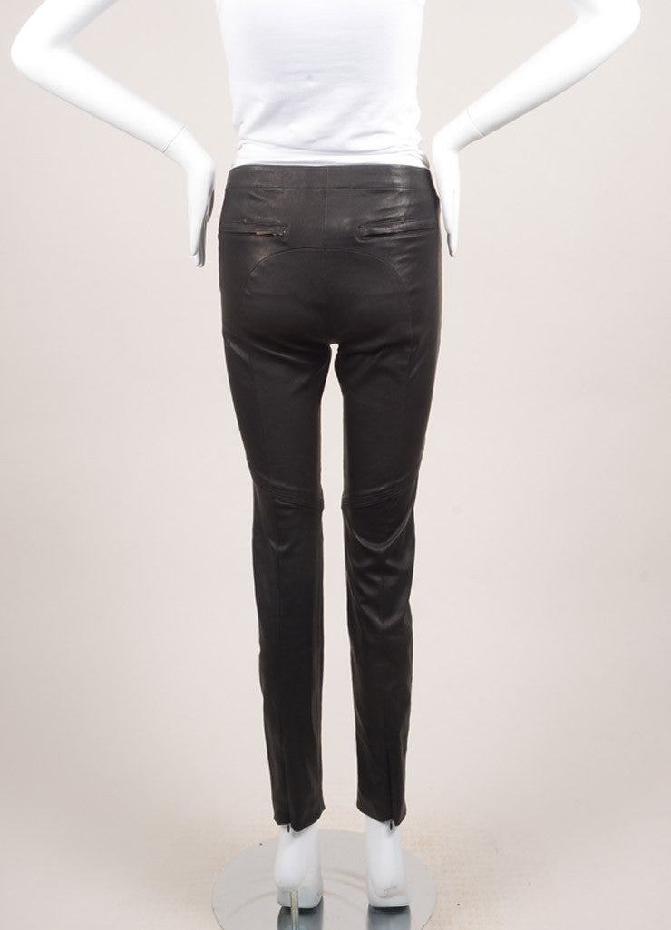 A.L.C. New With Tags Black Leather Zip Skinny Pants Backview