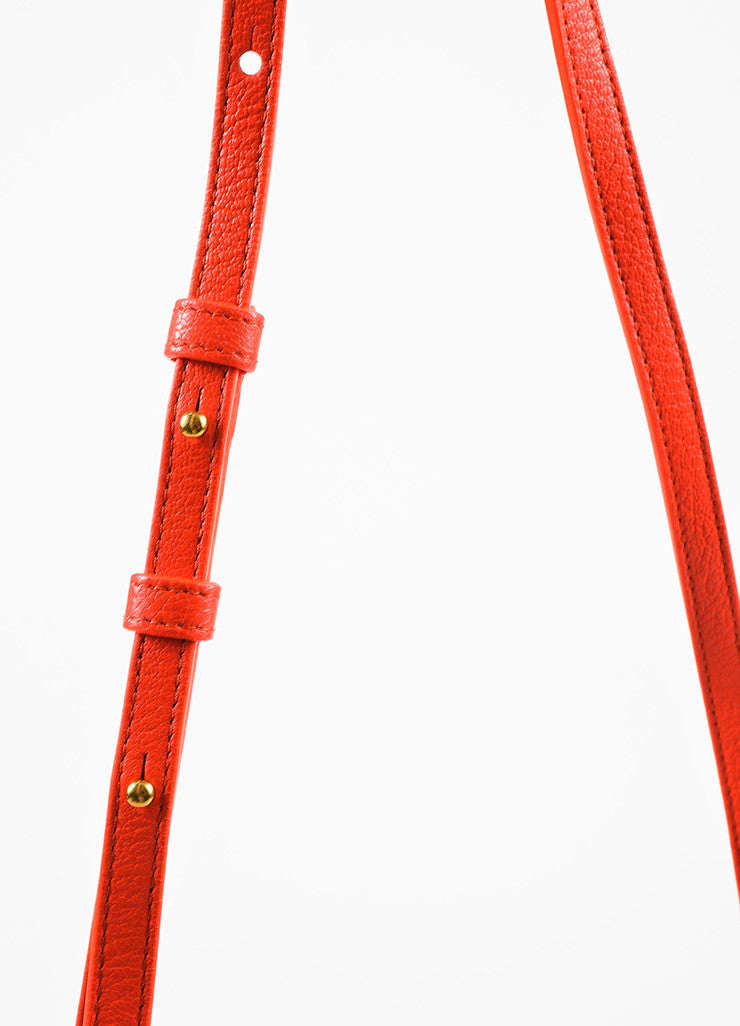"Celine ""Alizarine"" Red Leather ""Large Trio"" Crossbody Bag Detail 3"
