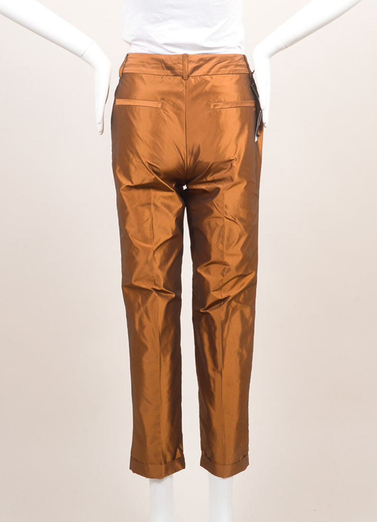 Elizabeth and James New With Tags Copper Tapered Trousers Backview