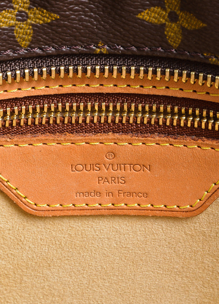"Brown and Tan Louis Vuitton Coated Canvas Monogram Logo ""Luco"" Tote Bag Brand"