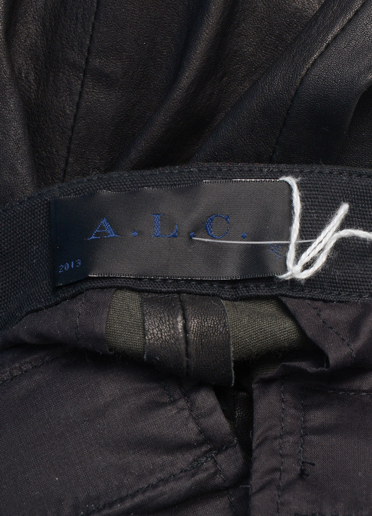 A.L.C. New With Tags Black Leather Zip Skinny Pants Brand
