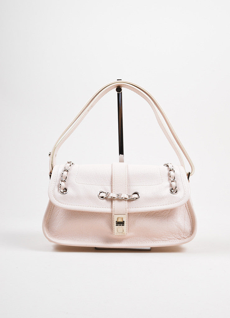 Blush Pink Chanel Reissue Chain Detail Shoulder Bag Frontview