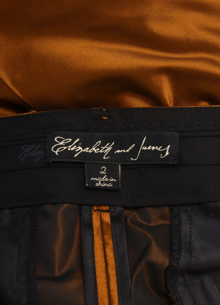 Elizabeth and James New With Tags Copper Tapered Trousers Brand