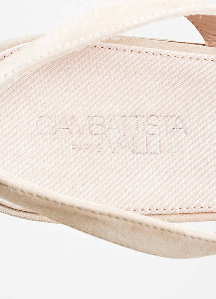 Nude Giambattista Valli Suede Pointed Slingback Flats Brand