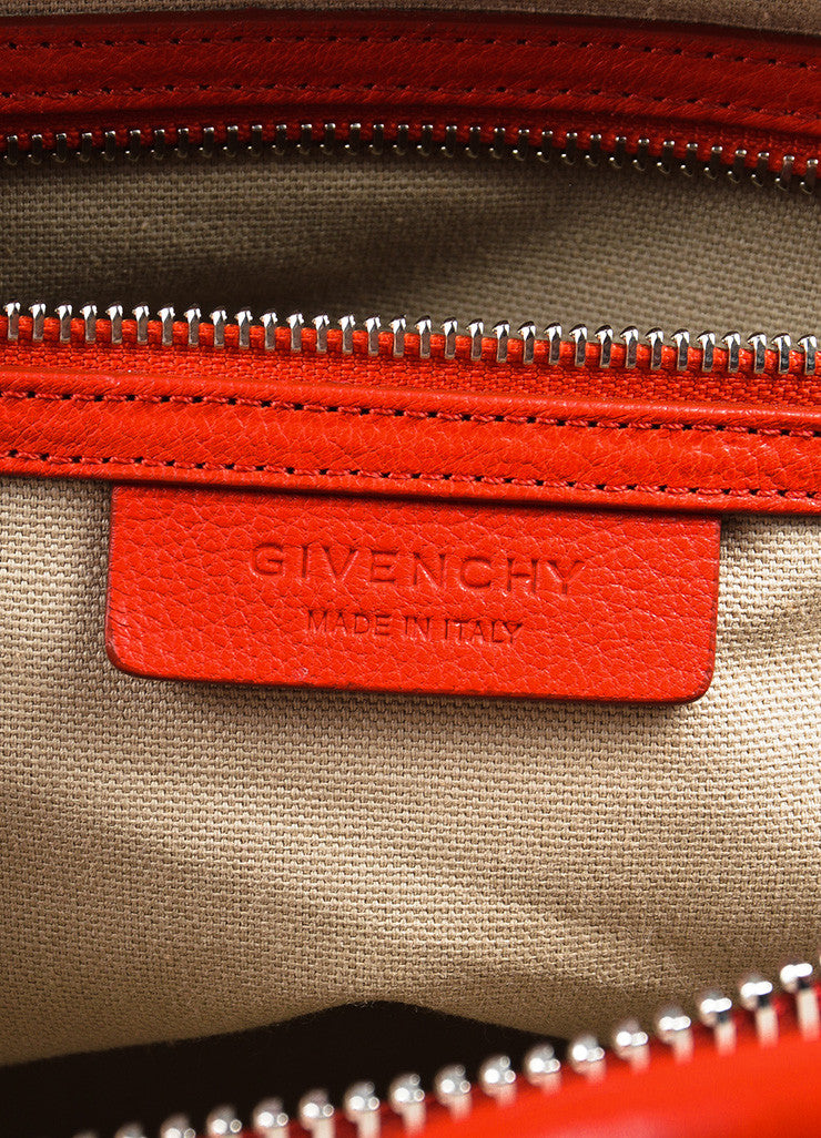 "Givenchy Red and Silver Toned Goat Leather Top Handle Medium ""Antigona"" Bag Brand"
