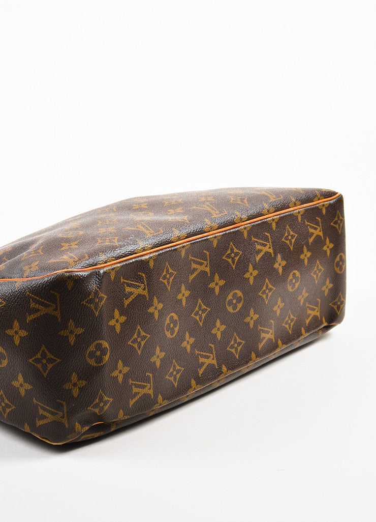 "Louis Vuitton Brown Canvas and Leather Monogram ""Batignolles Horizontal"" Bag Bottom View"