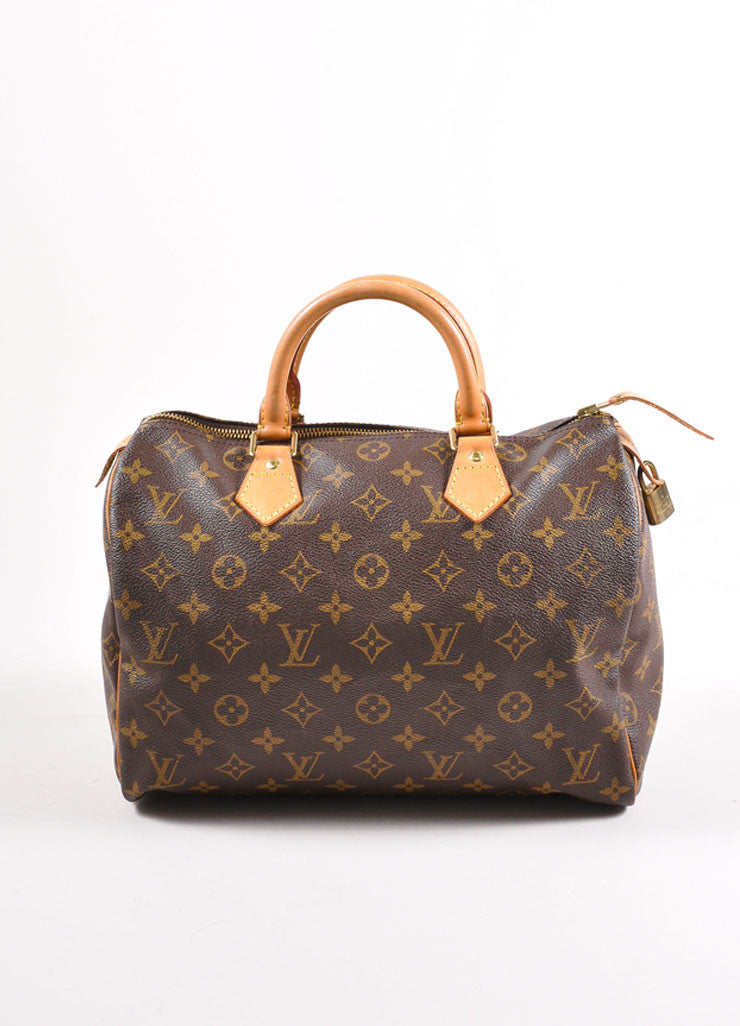 "Louis Vuitton Monogram Canvas ""Speedy 30"" Handbag Frontview"
