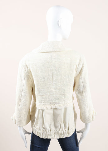 Marc Jacobs Cream Knit Layered Jacket Backview