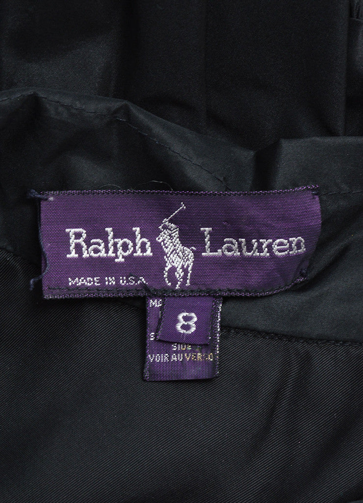 Ralph Lauren Purple Label Black Silk Taffeta Tiered Full Mini Skirt Brand