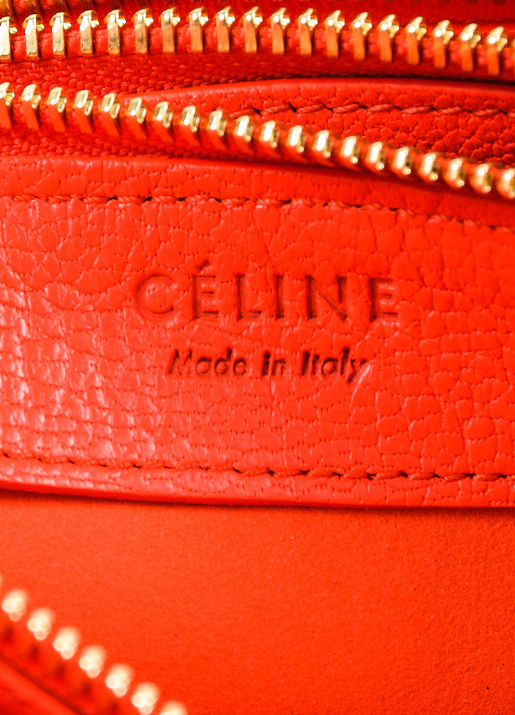 "Celine ""Alizarine"" Red Leather ""Large Trio"" Crossbody Bag Brand"