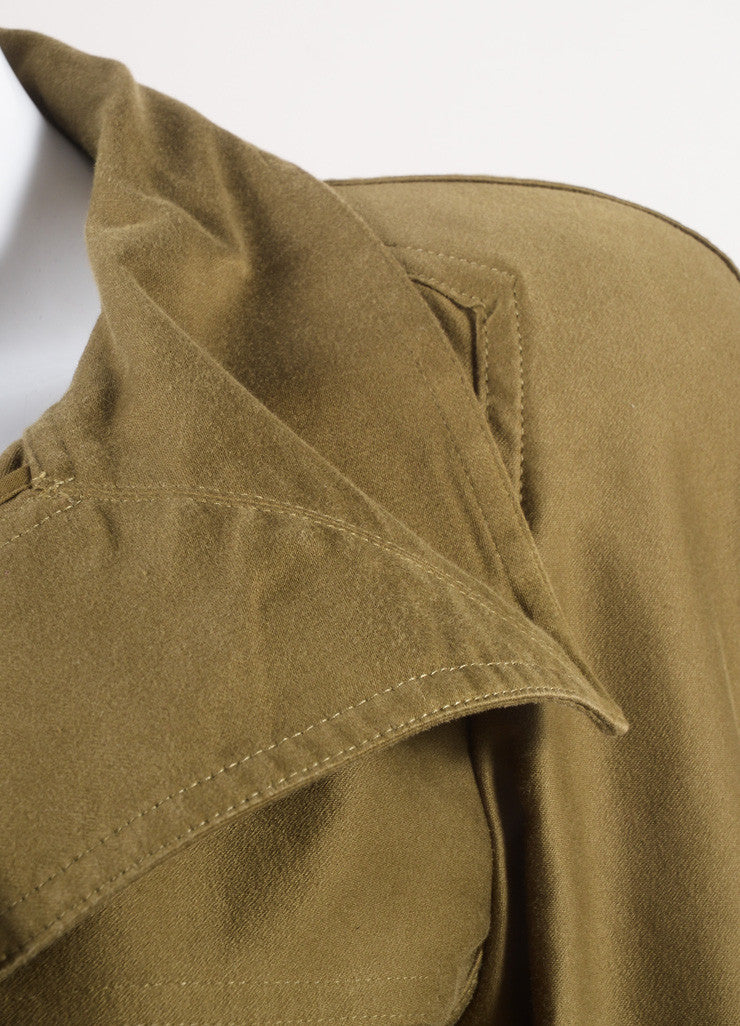 "Isabel Marant Army Green Cotton Peplum Military ""Janey"" Jacket Detail"