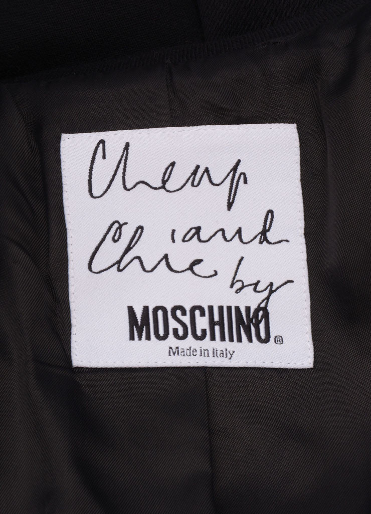 Moschino Cheap & Chic Black Wool Rhinestone Embellished Tailored Blazer Brand
