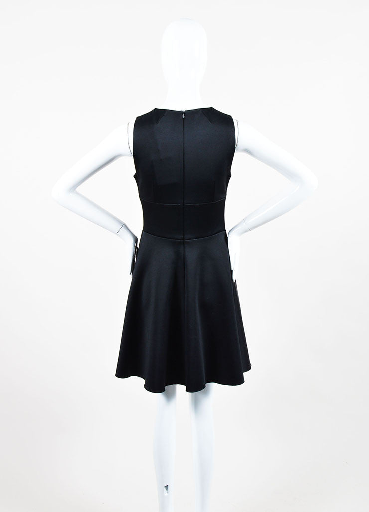 "Black and Multicolor Peter Pilotto Embellished Sleeveless ""Cali"" A-Line Dress Backview"
