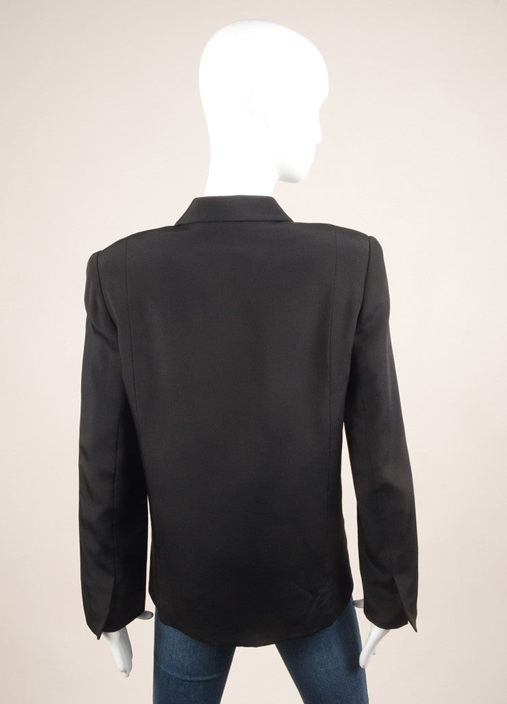 Galanos Black Long Sleeve Jacket Backview