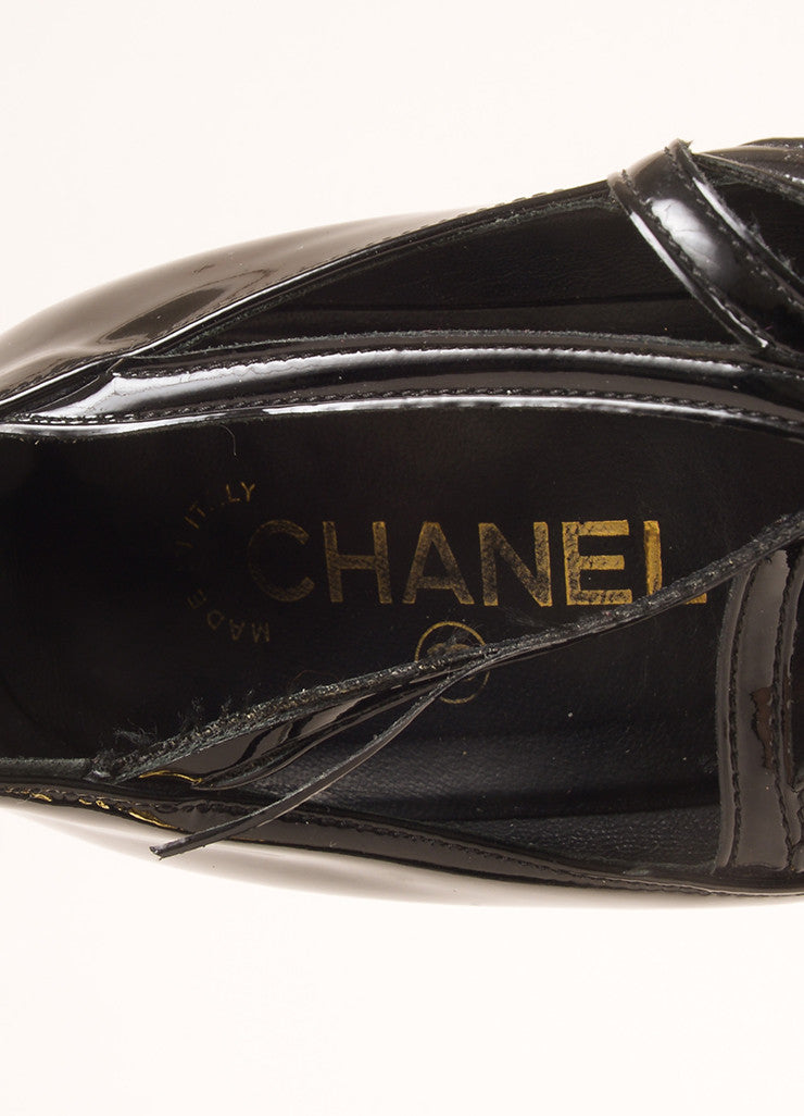 Chanel Black Metallic and Gold Leather Multi-Buckle Quilted Wedge Heels Brand