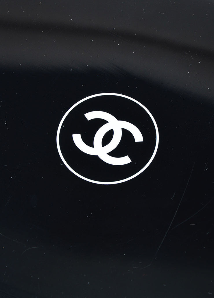 Black and White Chanel 'CC' Logo Hand Mirror Brand