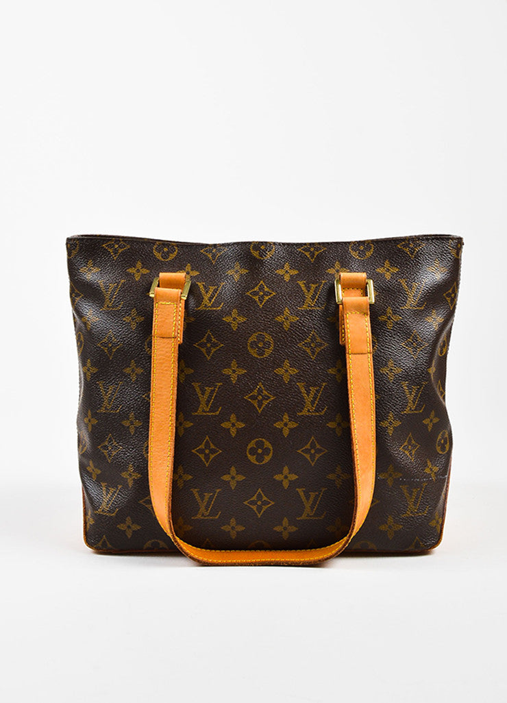 "Louis Vuitton Brown Monogram Coated Canvas ""Cabas Piano"" Bag Frontview"