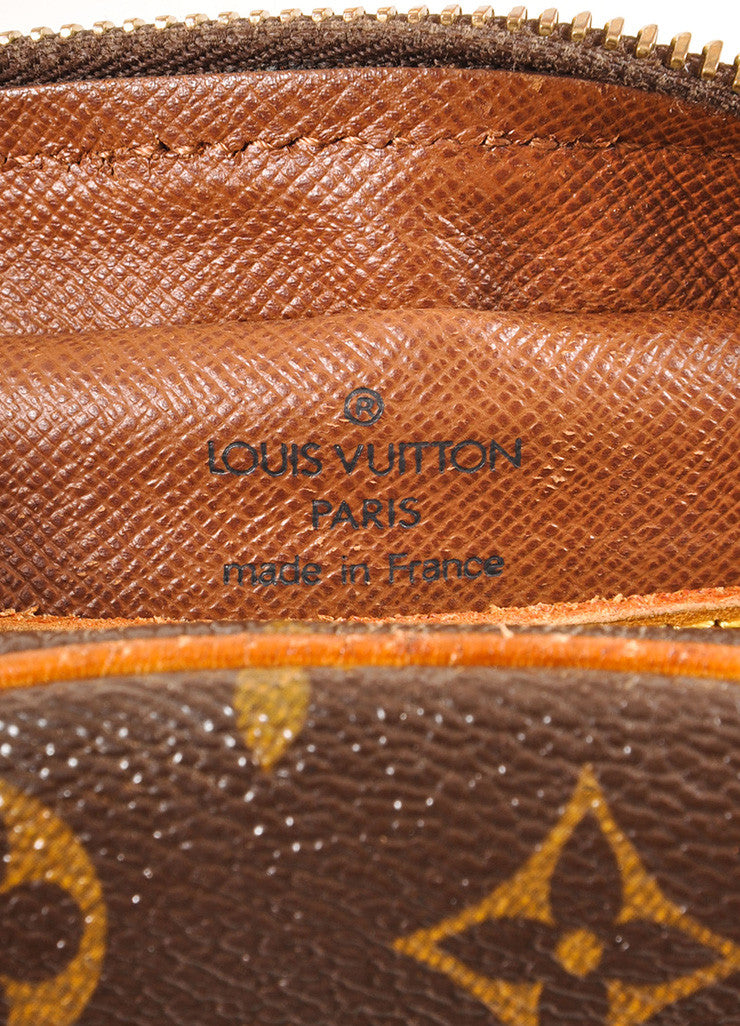 "Louis Vuitton Brown and Tan Coated Canvas Leather Monogram ""Blois"" Crossbody Bag Brand"