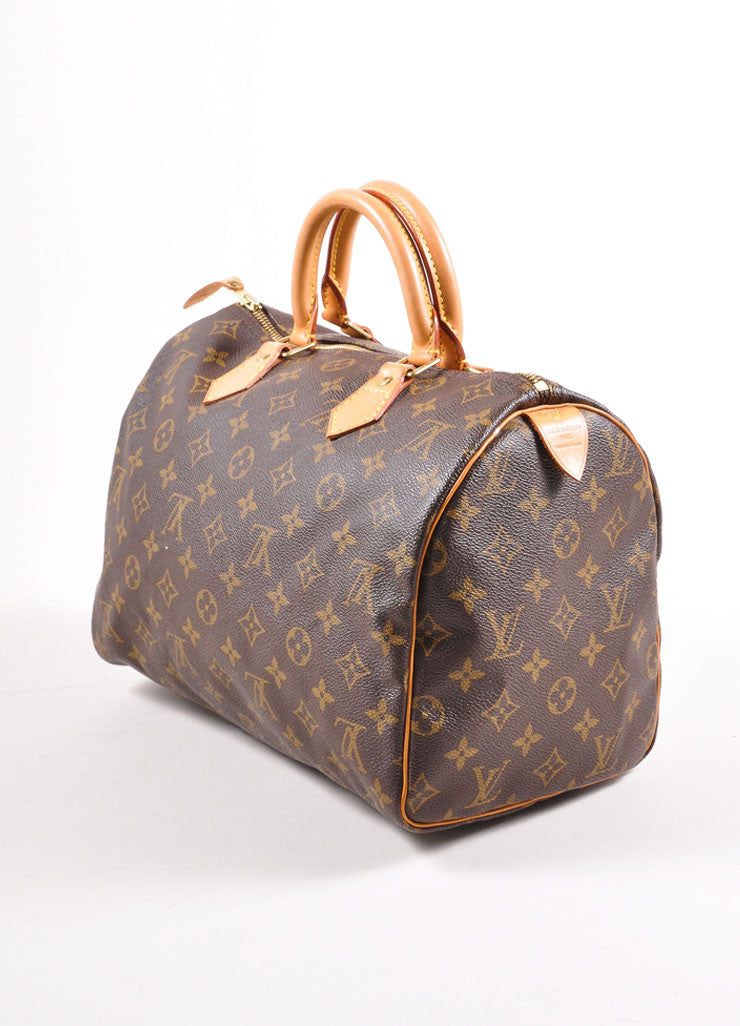 "Louis Vuitton Monogram Canvas ""Speedy 30"" Handbag Sideview"