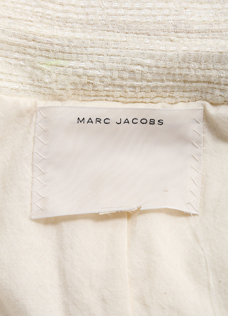 Marc Jacobs Cream Knit Layered Jacket Brand