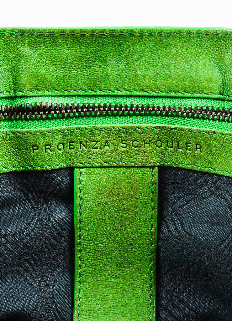 "Proenza Schouler Kelly Green Leather Medium Crossbody ""PS1"" Messenger Bag Brand"