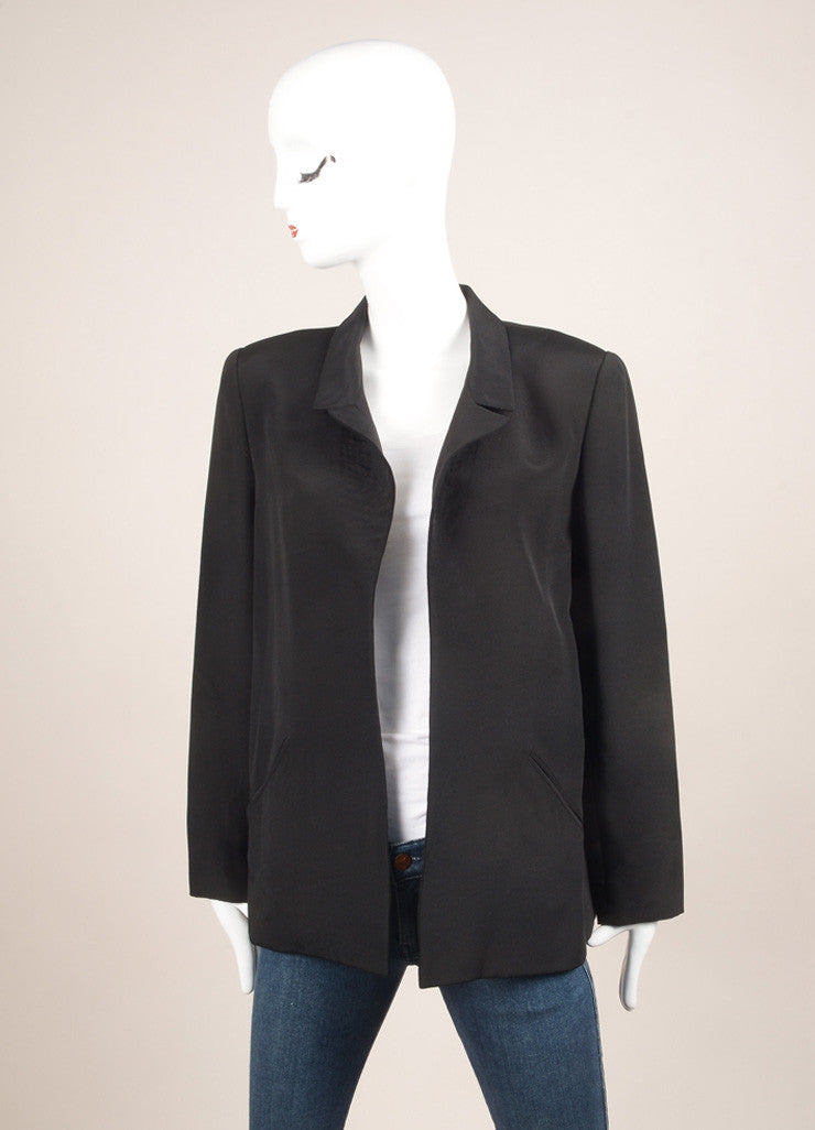 Galanos Black Long Sleeve Jacket Frontview