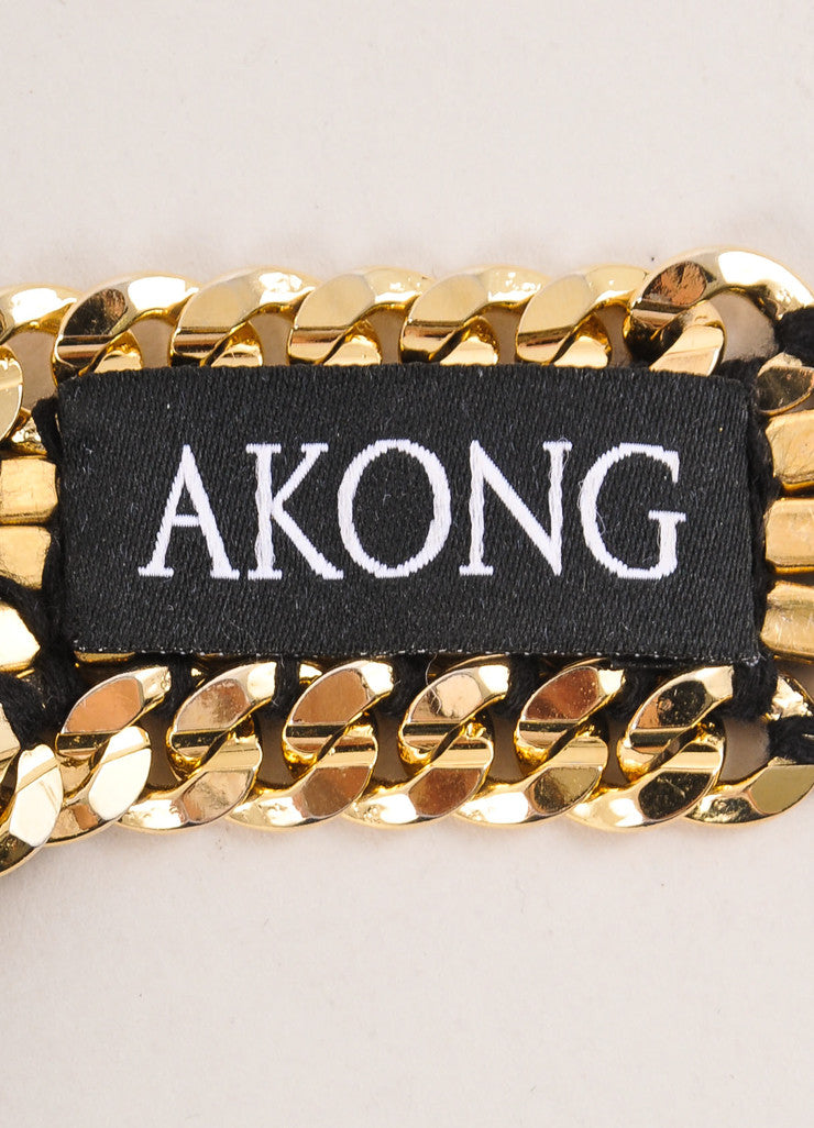 Akong London New With Tags Gold Toned and Multicolor Chunky Gemstone Statement Necklace Brand