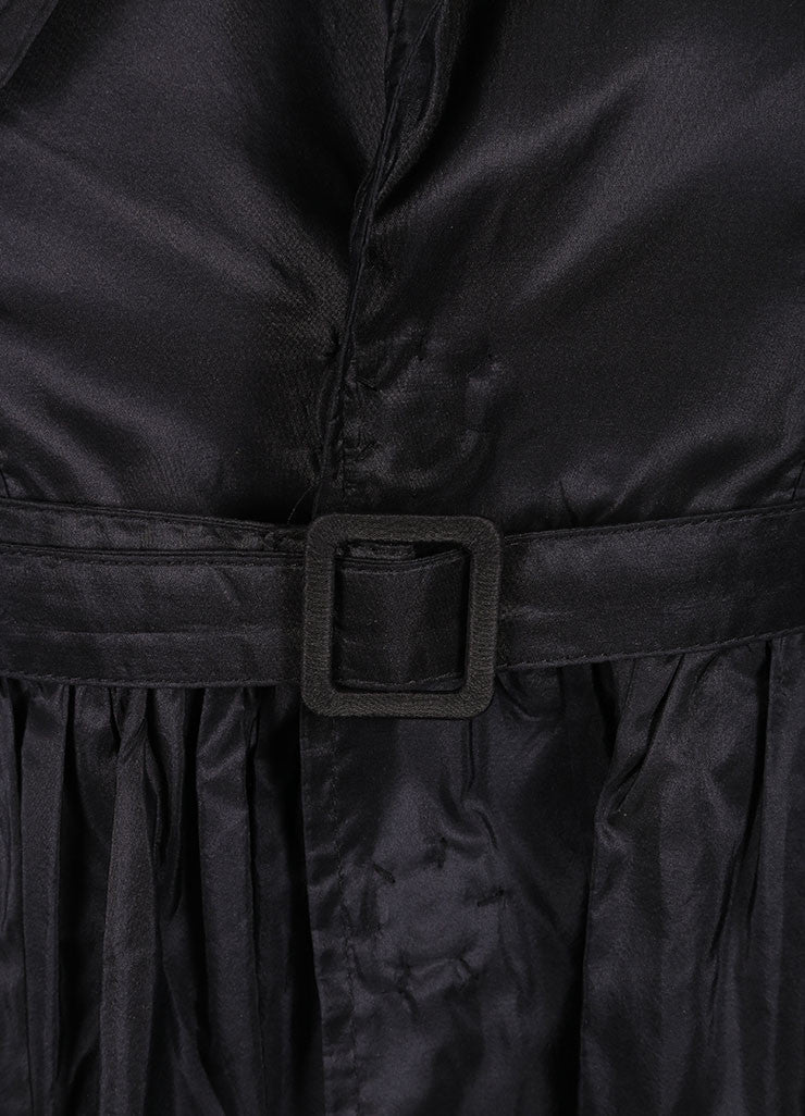 DSquared2 Black Silk Taffeta Trench Sleeveless Dress Detail