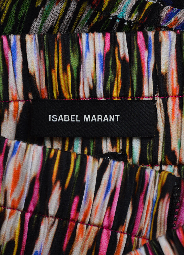 Isabel Marant Multicolor Silk Tiered Printed Ruffled Mini Skirt Brand
