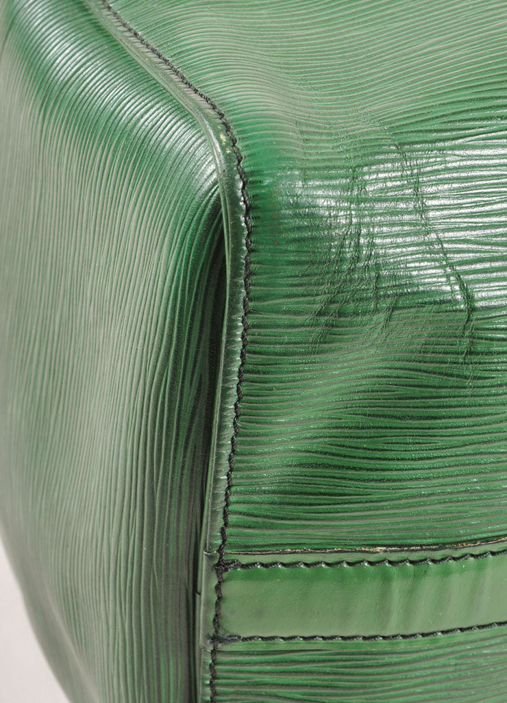 "Louis Vuitton Green Epi Leather ""Speedy 35"" Satchel Handbag Detail 2"