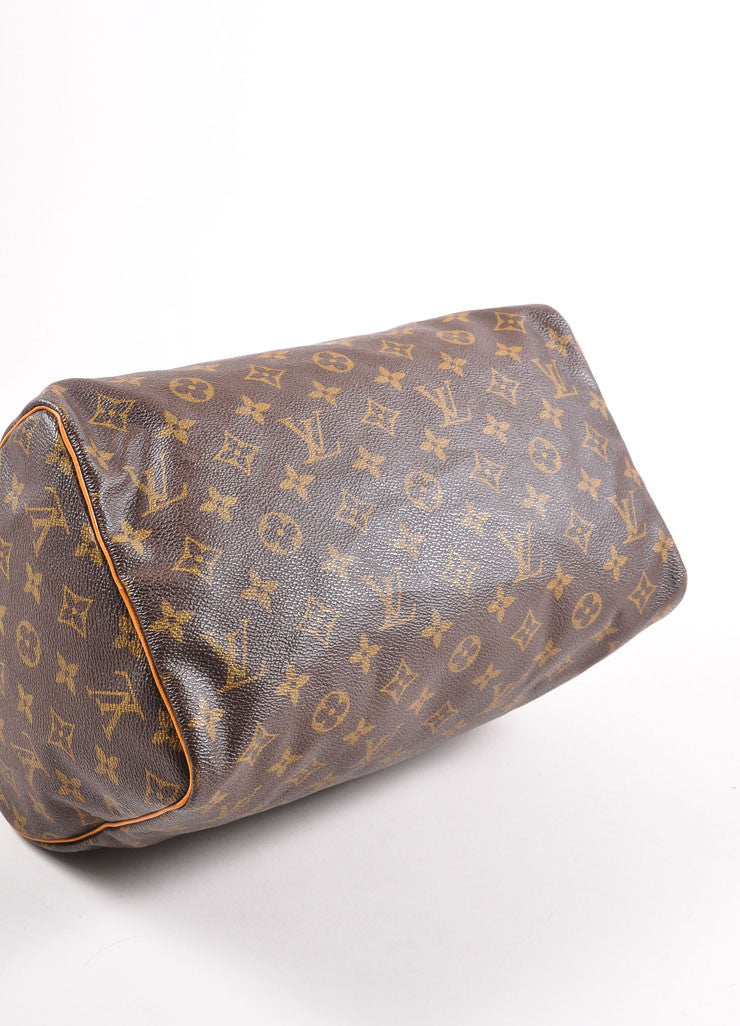 "Louis Vuitton Monogram Canvas ""Speedy 30"" Handbag Bottom View"