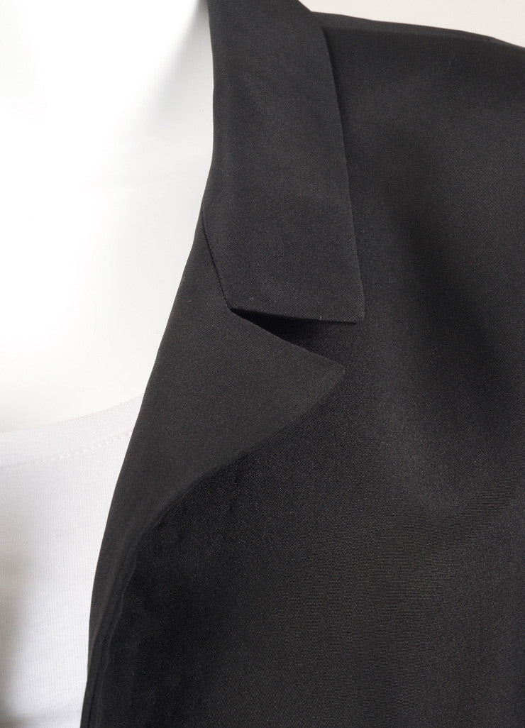 Galanos Black Long Sleeve Jacket Detail