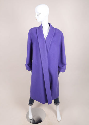 Valentino Purple Oversized Long Coat Frontview