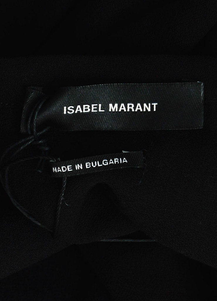 "Black äó¢íšíóIsabel Marant Pleat ""Rumer"" Asymmetrical Mini Skirt Brand"