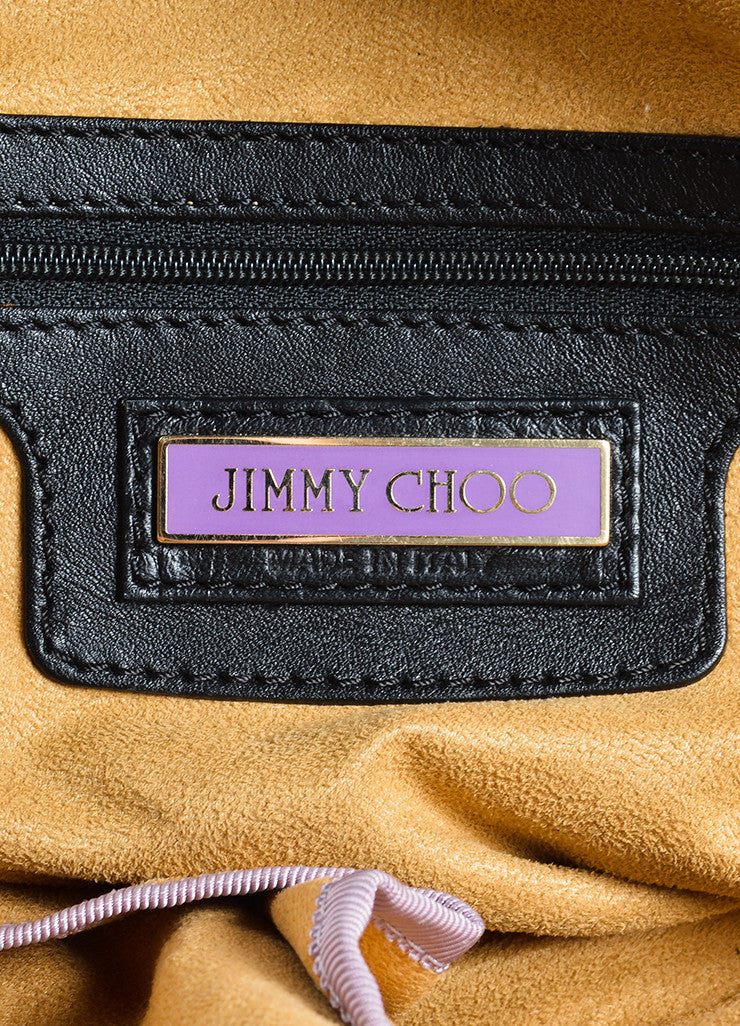 Jimmy Choo Black Leather Slouchy Belted East West Carryall Bag Brand