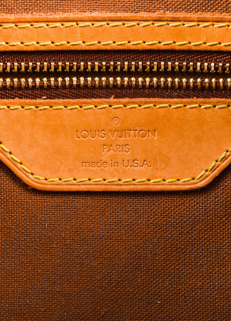 "Louis Vuitton Brown Canvas and Leather Monogram ""Batignolles Horizontal"" Bag Brand"